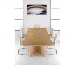 Standard Boardroom Tables with arrow head leg design