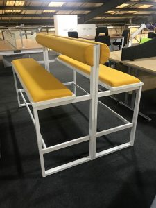 High Bench Yellow with White Frame