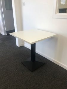 Square Cafe Table White