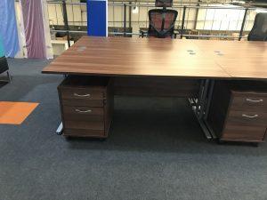 Walnut Straight Desk