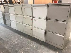 Used 3 Drawer Metal Filing Cabinet