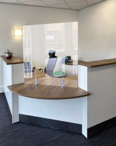 Acrylic Freestanding Screen for Reception Desks