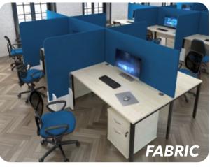 Desk Mounted High Screens Fabric