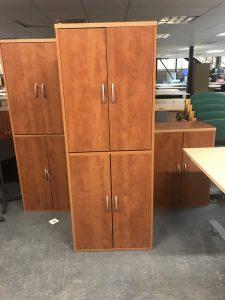 Used Cherry 4 or 2 Door Storage Unit