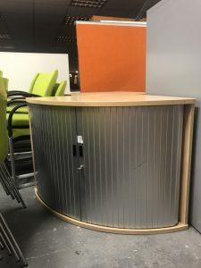 Used Maple Corner Tambour Unit