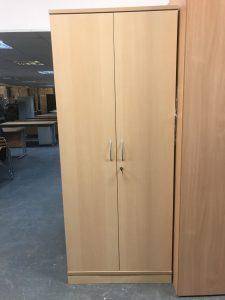 Used 2 Door Maple Storage Cupboard