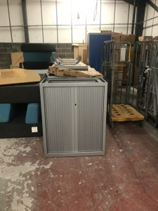 Ex Display Steelcase Metal Tambour Cupboard