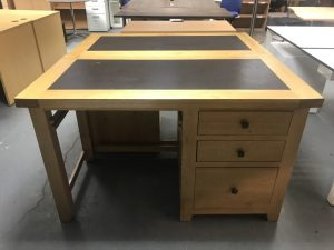 Used Solid Oak Rectangular Desk