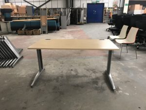 Used Maple Straight Desk