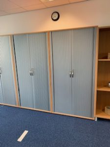 Used Tambour Storage Cupboard