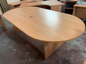 Used Beech Claremont Boardroom Table