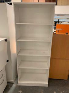 Second Hand White Open Bookcase