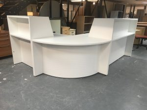 Second Hand Curved Reception Desk
