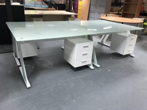 Used Glass Top Office Desk