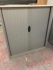 Second Hand Metal Tambour Cupboard