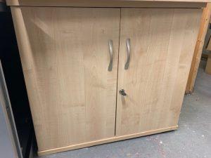 Second Hand Double Door Wooden Storage