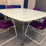 Second Hand Sven Glass Top Meeting Table