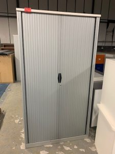 Second Hand Tall Tambour Cupboards