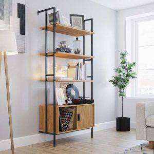 Hythe Wall Mounted 4 Shelf Bookcase