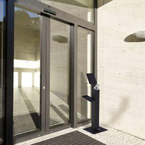Metal Sanitising Gel Dispenser
