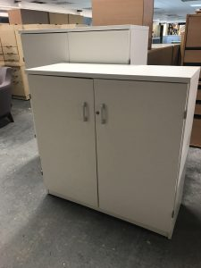 Used White Office Cupboard