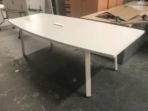 Second Hand White Boardroom Table
