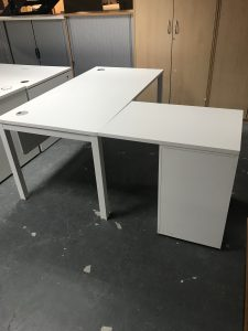 Second Hand White Executive Desk
