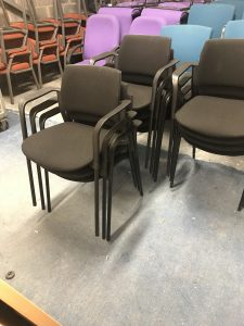 Used Black Stackable Meeting Chairs